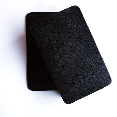隅丸箱(黒漆)