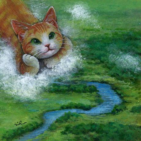 おおやぎえいこ「天空から湿原を望む 」