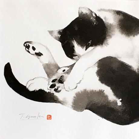 榎 俊幸 水墨画「ぼんやり」