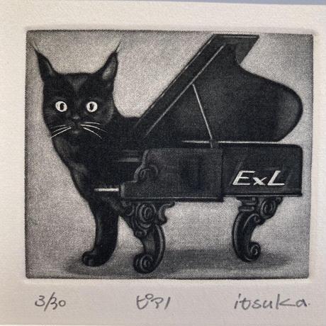 山田いつか「ピアノ(蔵書票)」