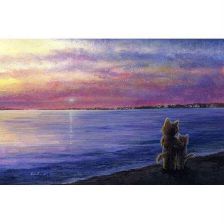 おおやぎえいこ「バラ色の夕焼け 」