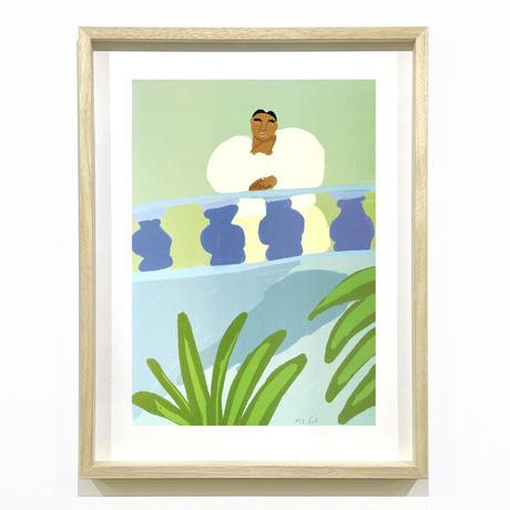 """Balcony"" Screen Print by Lilian Martinez [額装付き]"