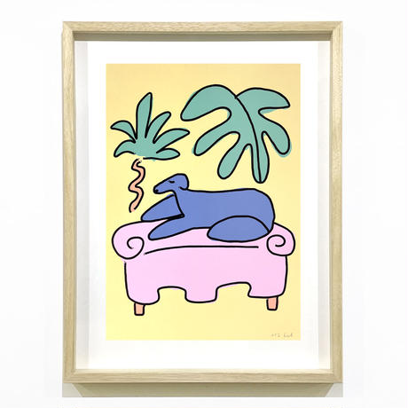 """Coco"" Screen Print by Lilian Martinez [額装付き]"
