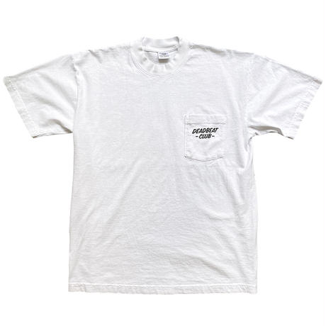 【NEW ver.】DEADBEAT CLUB POCKET Tshirt [White]