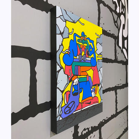 """""""Destruction"""" Giclee Print on Paper with Wood Panel by SHINKNOWNSUKE"""