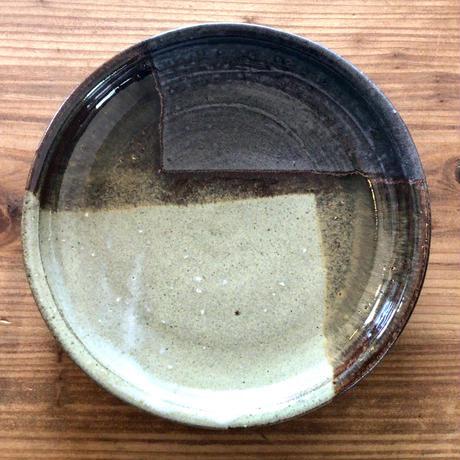 【大人のやちむん】ロクロ平丸皿 西表焼青烽窯