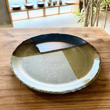 【西表焼青烽窯】大人のやちむん タタラ 丸皿