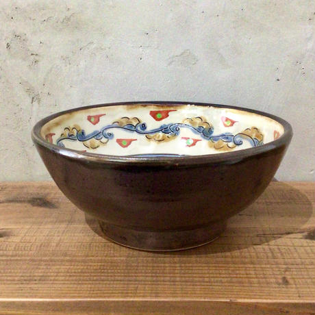 【壺屋焼】赤絵5.5寸鉢 國場陶芸