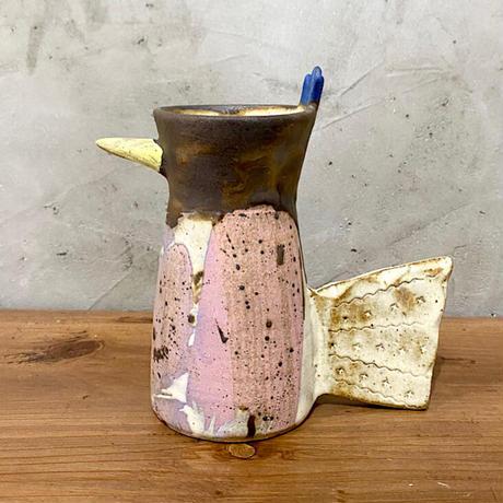 【土の種】トリ花瓶 ホワイト