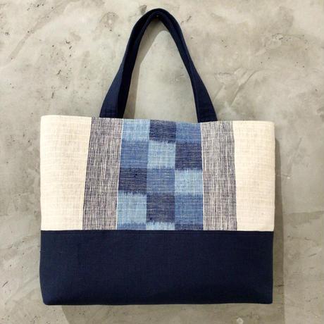 【琉球藍織物】トートバッグ 花藍舎