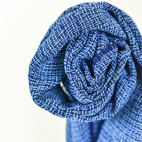 【花藍舎】ストールやしらみ手紬綿(総柄)