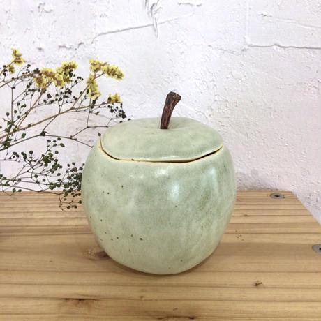 【大人可愛い♪】蓋つきりんご 陶factory509