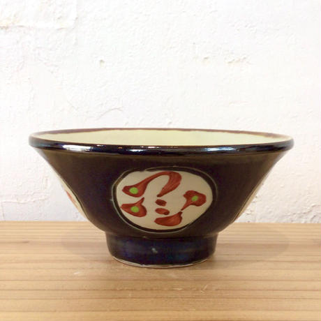 【國場陶芸】壺屋焼 赤絵4寸マカイ(ご飯碗)