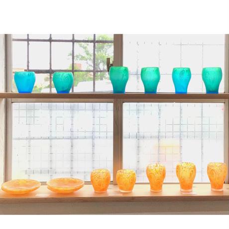 【珍しい琉球ガラス】うずイラブチャーロックグラス 匠工房