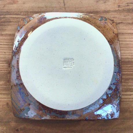【眞正陶房】正方皿 ホワイト