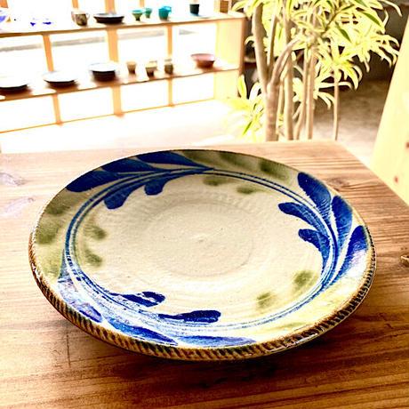 【大人の基本のやちむん】デイゴ8寸リム皿