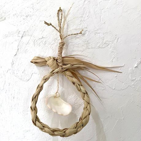 【貝細工】貝殻サングヮーガーランドL   種水土花