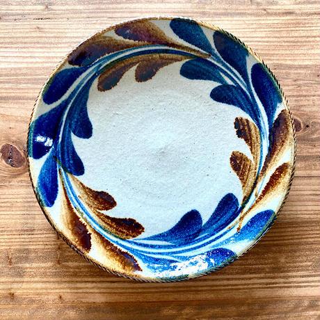 【大人の基本のやちむん】デイゴ 7寸リム鉢