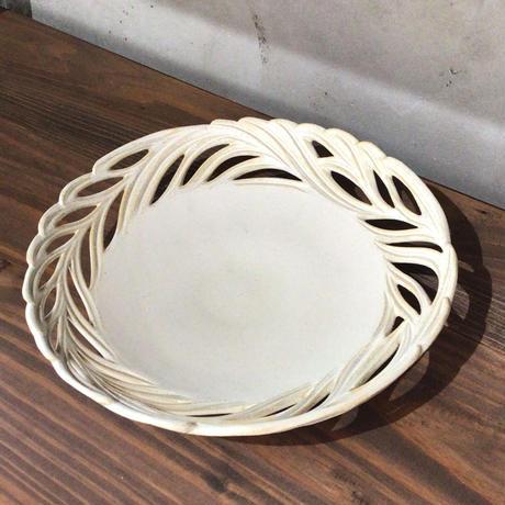 【美しい器】透かし皿 20cm 新里竜子