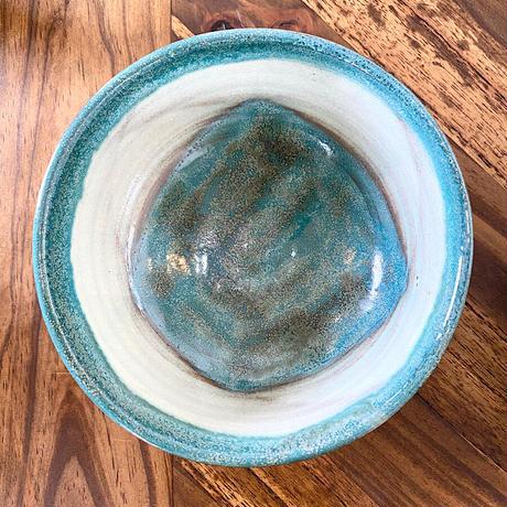 【青峰窯】西表島の大自然を感じるやちむん海色中鉢