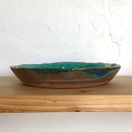 【沖縄の海を感じる器】丸鉢 西表焼青烽窯