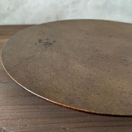 沖縄県産木 錫粉平皿