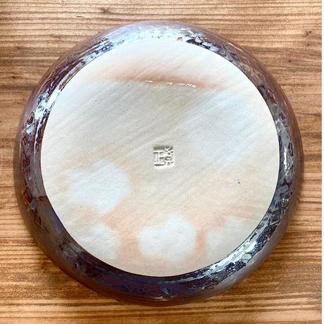 【眞正陶房】大人のやちむん7寸皿 マカロン パープル