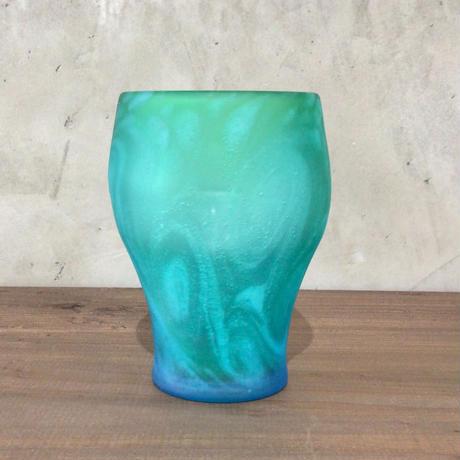 【珍しい琉球ガラス】うずイラブチャー丸口ロックグラス 匠工房