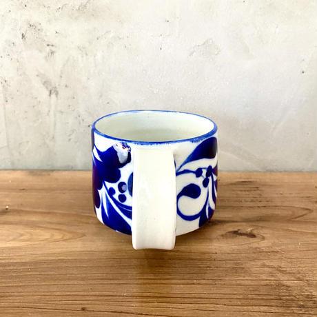 【眞正陶房】大人のマグカップ 唐草 コバルト