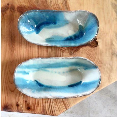 【沖縄の海を感じる器】サバニ鉢 西表焼青烽窯