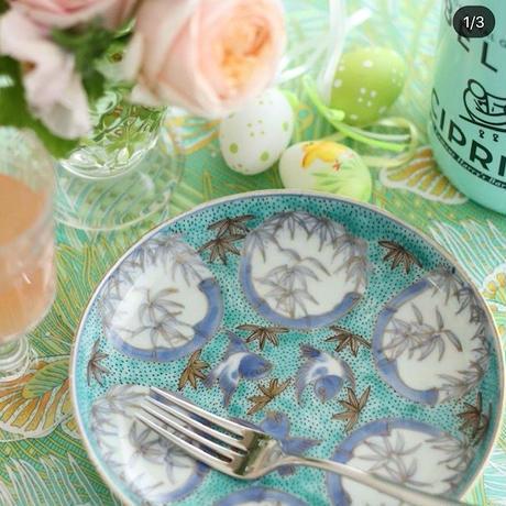 雀と竹 ペパーミント五寸皿