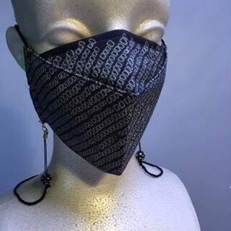 横山由紀子  総絞りマスク L   マスク吊り付き