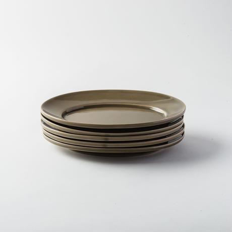 萬古焼 オーバル皿 M グレー