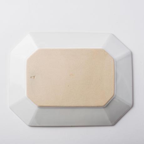 萬古焼 八角皿 L ホワイト