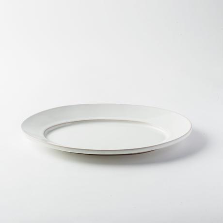 萬古焼 オーバル皿 L ホワイト