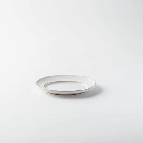 萬古焼 オーバル皿 S ホワイト