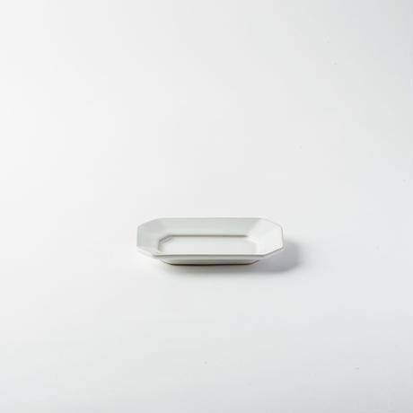 萬古焼 八角皿 S ホワイト