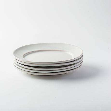 萬古焼 オーバル皿 M ホワイト
