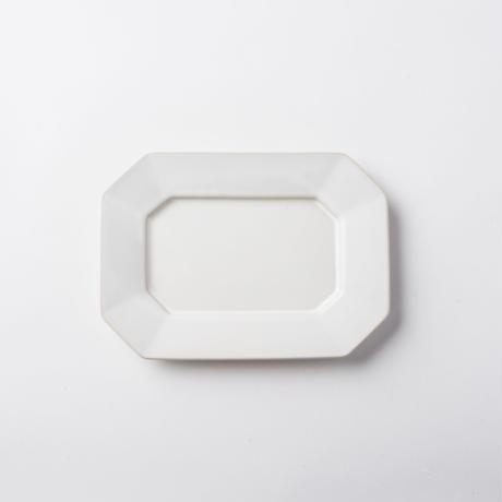 萬古焼 八角皿 M ホワイト