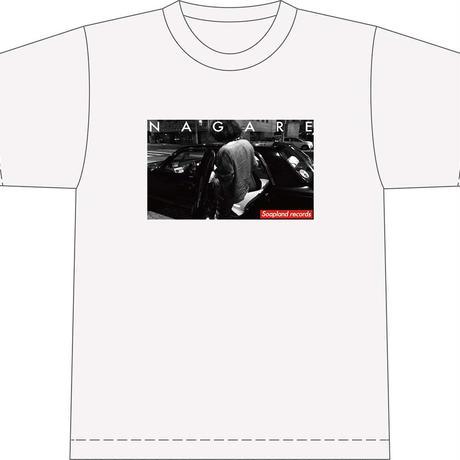 花田裕之 流れ Tシャツ / soapland records collaboration series #2