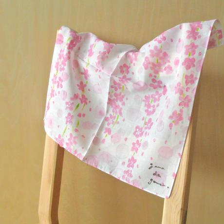 綿ローンハンカチーフ 〔花〕