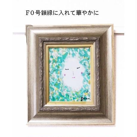 ミニキャンバス 〔緑の人〕