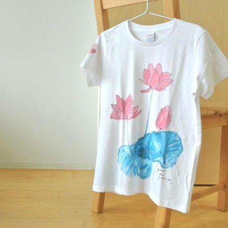 手描きTシャツ(Mサイズ・フルペイント) 〔花〕