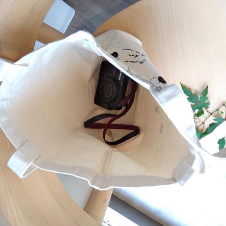マチありコットンバッグ 【黒オリーブ】