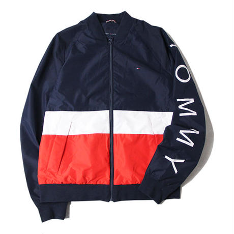 TOMMY HILFIGER / NYLON ZIP JACKET  navy/white/red