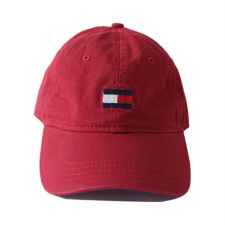 TOMMY HILFIGER / LOGO COTTON CAP burgundy 78BI292