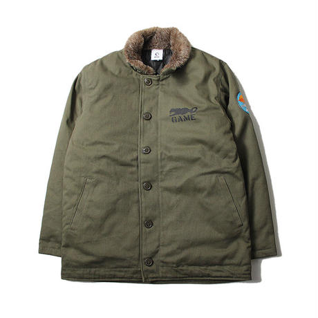 COTTON TWILL DECK JACKET olive
