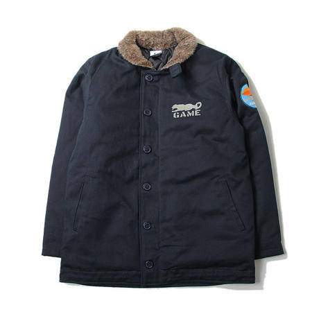 COTTON TWILL DECK JACKET navy