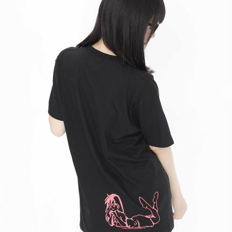 ワンダーモモ30周年記念! 【WONDER MOMO School Club Tee】 (ブラック)