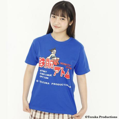 鉄腕アトム 8-bit Title  Tシャツ  -BLUE-